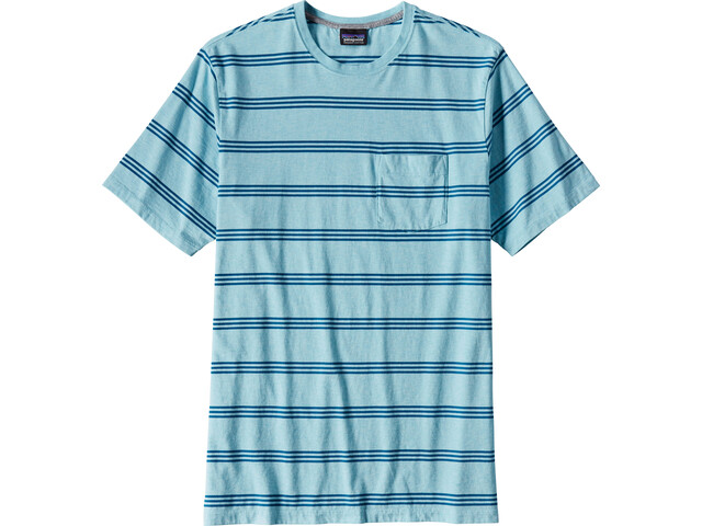 Patagonia Squeaky Clean Pocket Tee Men Branch Creek:Cuban Blue
